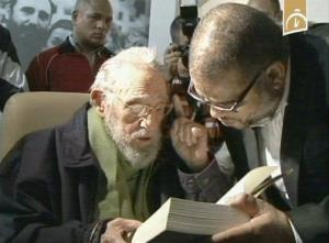In this frame grab of video, Fidel Castro attends the inauguration of an art studio in Havana.