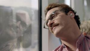This image released by Warner Bros. Pictures shows Joaquin Phoenix in a scene from the Spike Jonze film Her.
