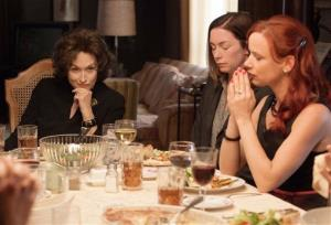 This image released by The Weinstein Company  shows, from left, Meryl Streep, Julianne Nicholson and Juliette Lewis in a scene from August: Osage County.