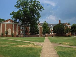 William Burns Patterson Hall on the Alabama State University campus in Montgomery, Alabama.