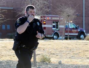 Law enforcement personnel set up a perimeter after a shooting at Berrendo Middle School.