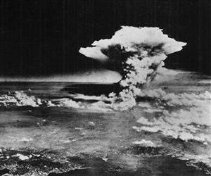 In this Monday, Aug. 6, 1945 picture made available by the US Army, a mushroom cloud billows into the sky about one hour after an atomic bomb was detonated above Hiroshima, Japan.