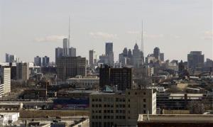 File photo is the skyline of the city of Detroit.