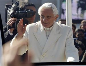 Pope Benedict in a 2013 file photo.