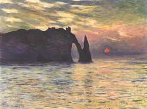 Claude Monet's 'Etretat: Sunset.'