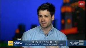 Hunter Moore on the Dr. Drew show in 2012.