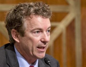 In this Nov. 6, 2013 file photo, Sen. Rand Paul, R-Ky. speaks on Capitol Hill.