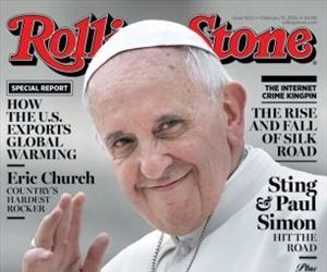 Pope Francis appears on the cover of Rolling Stone.