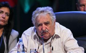 Uruguay's President Jose Mujica speaks on the second day of the CELAC Summit in Havana, Cuba.