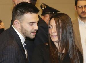 Meredith Kercher's brother Lyle and sister Stephanie after the verdict.