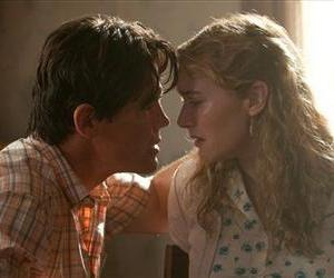 This image released by Paramount Pictures shows Josh Brolin, left, and Kate Winslet in a scene from Labor Day.
