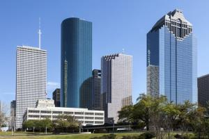 The skyline of Houston.