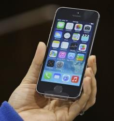 File photo of an iPhone 5S.