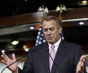House Speaker John Boehner of Ohio gestures while speaking during a news conference on Capitol Hill, Feb. 6, 2014.