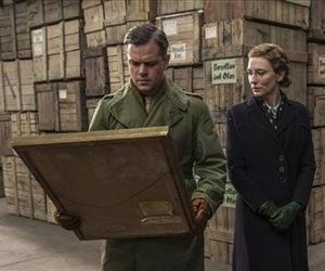Matt Damon and Cate Blanchett are seen in a scene from the Columbia Pictures film The Monuments Men.