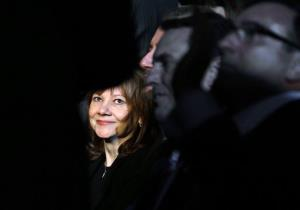 In this Monday, Jan. 13, 2014, file photo incoming General Motors CEO Mary Barra appears at the North American International Auto Show in Detroit.