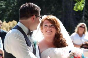 Dylan and Robyn Benson, both 32, were married last July.