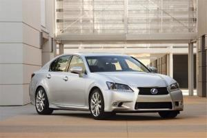 This undated image made available by Toyota shows the 2013 Lexus GS 450h.