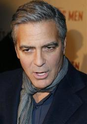 George Clooney arrives for the French Premiere of The Monuments Men at the UGC Normandie in Paris on Feb. 12.