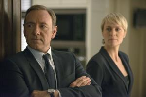 Kevin Spacey as Francis Underwood, left, and Robin Wright as Clair Underwood in a scene from House of Cards.