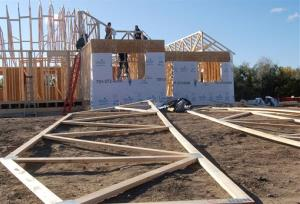 This Oct. 21, 2011, file photo shows an apartment building under construction in Williston, ND. A national study shows that the North Dakota oil patch city has the country's highest average rent.