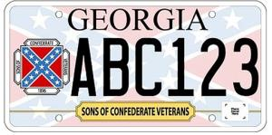 In this image released by the Georgia Department of Revenue, a new Georgia car tag is shown.