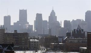 The Detroit skyline from the city's midtown.