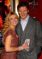 In this Dec. 4, 2006 file photo, actors Natasha Richardson, left, and her husband Liam Neeson arrive to the premiere of Dreamgirls at the Ziegfeld Theatre in New York.