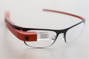 Google Glass frames on display.