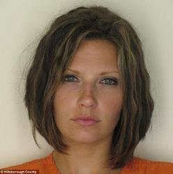 The mugshot of Meagan Simmons.