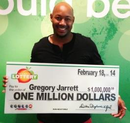 Gregory Jarrett nearly missed out on his $1 million prize.