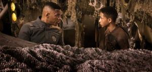 Will Smith and Jaden Smith in a scene from After Earth.