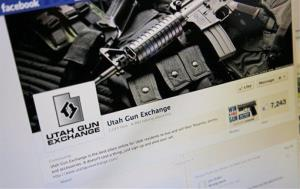 "The Facebook page of the Utah Gun Exchange is seen Monday, Dec. 24, 2012. A Utah gun group will be giving a handgun with a mounted laser on Christmas day to ""one lucky winner"" to celebrate the success of an online firearms classified page the group launched following the Connecticut..."