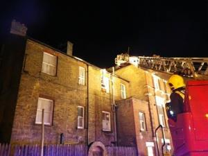 Nine people were evacuated from the building in Stockwell after fire broke out.