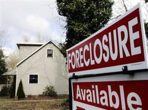 File photo of a foreclosed home.