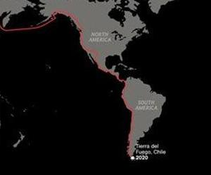 Tierra del Fuego is seen on a graphic released by the National Geographic Society.