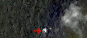 A screen capture of China's possible discovery.