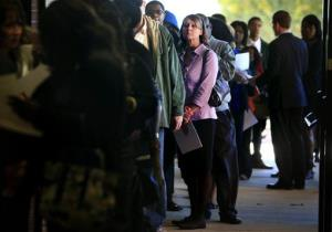 File photo of job seekers in Cordova, Tenn.