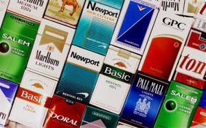 This Sept. 14, 2005 file photo shows packs of cigarettes in a store in Brunswick, Maine.