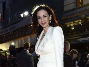 This Oct. 18, 2012 file photo shows L'Wren Scott at the London Film Festival American Express Gala for The Rolling Stones - Crossfire Hurricane, in London.