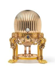 This photo issued by London antique dealers Wartski shows the newly found Imperial Faberge egg.