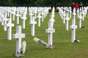 This 2011 file photo shows the U.S military cemetery in Colleville sur Mer, western France.