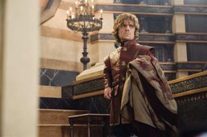 This publicity image released by HBO shows Peter Dinklage in a scene from Game of Thrones.