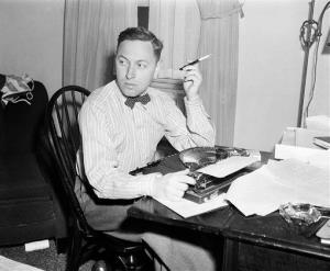 This  1940 photo shows playwright Tennessee Williams at his typewriter in New York.