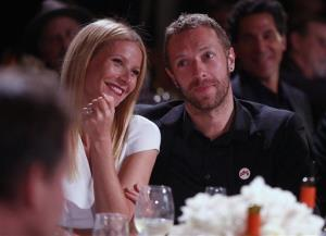 Gwyneth Paltrow and Chris Martin together on Jan. 11, 2014, in Beverly Hills.