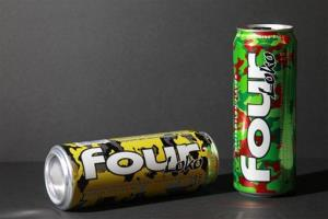 Cans of Four Loko are seen on Wednesday, Feb. 29, 2012, in Washington.