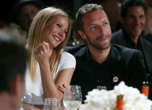 This Jan. 11, 2014 file photo shows actress Gwyneth Paltrow, left, and her husband, singer Chris Martin at the 3rd Annual Sean Penn & Friends Help Haiti Home Gala in Beverly Hills, Calif.