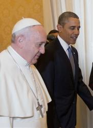 President Barack Obama meets with Pope Francis, Thursday, March 27, 2014 at the Vatican.