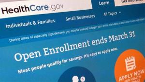 This March 1, 2014, file photo shows part of the website for HealthCare.gov as photographed in Washington.