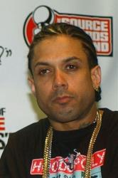 This Oct. 10, 2004 file photo shows Ray Benzino at the Source Hip-Hop Music Awards  in Miami.